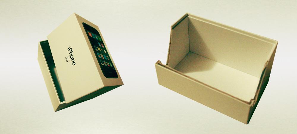 faire un support ipad pas cher avec une boite d 39 iphone. Black Bedroom Furniture Sets. Home Design Ideas