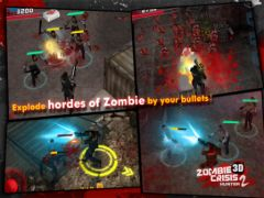 free iPhone app Zombie Crisis 3D 2: HUNTER HD