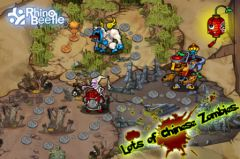 free iPhone app Panda Warrior HD: Zombie king