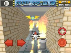 free iPhone app Paper Glider Crazy Copter 3D