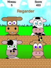 free iPhone app Simoo - Le jeu de mémoire simple avec des vaches!