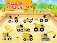 free iPhone app Cars in sandbox: Construction