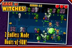 free iPhone app Rage of Witches Halloween Tap Tap Special