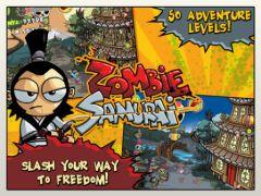 free iPhone app Zombie Samurai HD