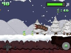 free iPhone app Super Mega Worm Vs Santa