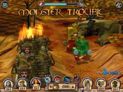 free iPhone app Monster Trouble HD