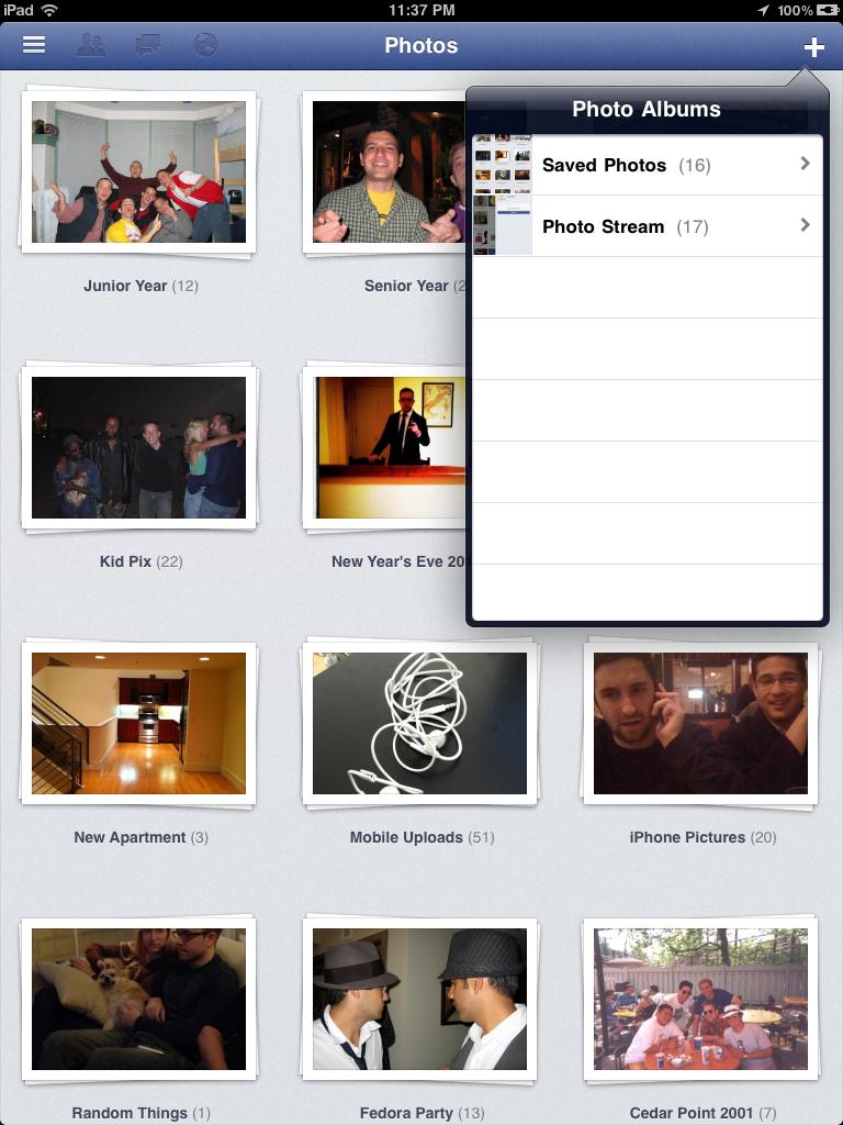 installer facebook sur ipad air