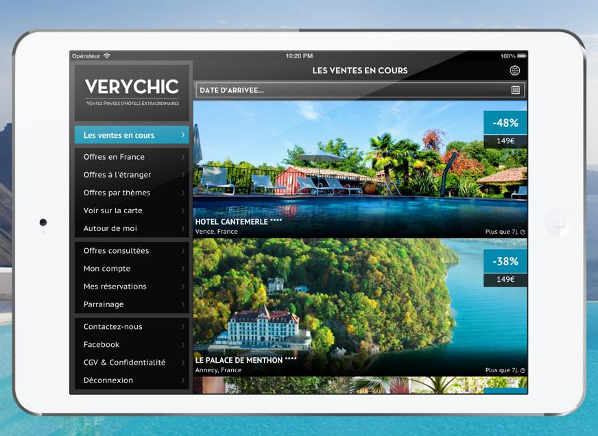 Des h tels d 39 exception prix r duits gr ce l 39 app ipad for Hotels a prix reduits