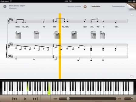 partition piano pub apple ipad mini
