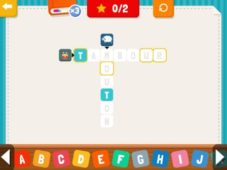 Appli enfant sur ipad et iphone des mots crois s pour l 39 apprentissage de l 39 orthographe - Pro des mots 210 ...