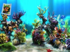 fond d'ecran 3d aquarium virtuel