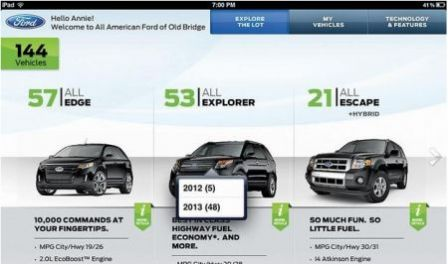 application iPad Ford