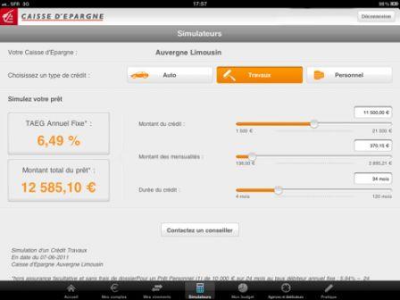 La Caisse D Epargne Propose Son Application En Version Ipad Ipad